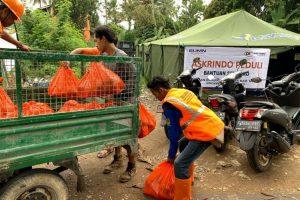 Askrindo-Mandiri-Perhutani tanggap darurat banjir-longsor di Bogor