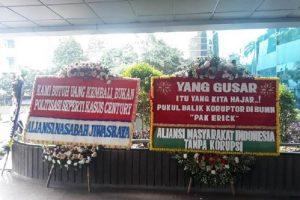 Erick Thohir dikirimi bunga, bentuk dukungan usut kasus Jiwasraya