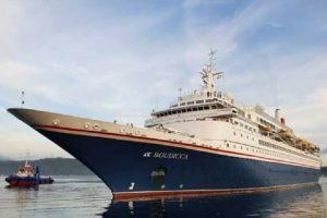 Kapal Pesiar MV Boudicca berlabuh di Ambon