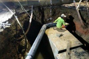 Kementerian PUPR mulai kerjakan perbaikan jalan amblas di Daan Mogot