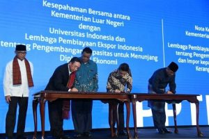 LPEI Gandeng Kemlu dan UI Tingkatkan Diplomasi Ekonomi