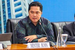 Menteri BUMN Erick Thohir ,