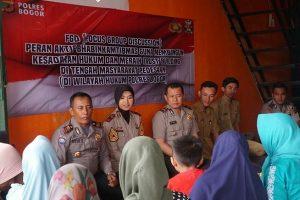 Bantuan taruna Akpol dan Polres Bogor merpakan upaya meningkatkan kemitraan Polri