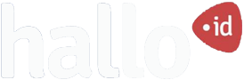 hallo id logo putih