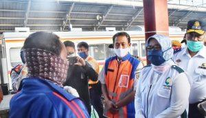 Bupati Bogor Tinjau Aktivitas Stasiun Bojong Gede di masa PSBB,,