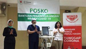 Foto 1 – Wings Group Salurkan Bantuan ke RS Carolus untuk Hadapi COVID-19