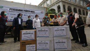 Kamar Dagang dan Industri (Kadin) Indonesia mendonasikan alat kesehatan (alkes)