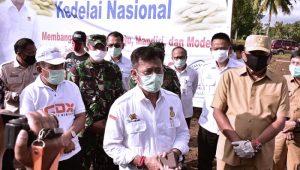 Mentan Syahrul dan Gubernur Sulut Tanam Kedelai Antisipasi Dampak Covid-19…