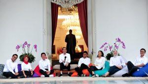 tujuh Staf Khusus dari kalangan milenial..