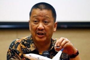 Direktur Utama Maskapai Garuda Indonesia Irfan Setiaputra ….